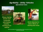 agrability utility vehicles specialized uses