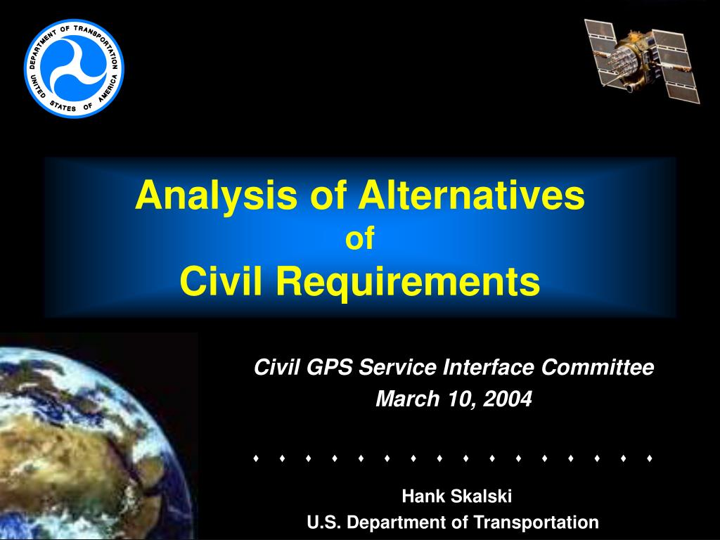 analysis of alternatives of civil requirements l.