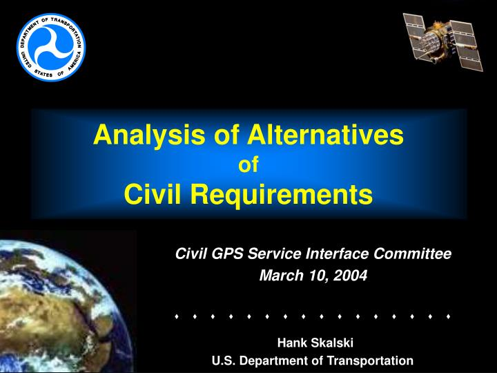 analysis of alternatives of civil requirements n.