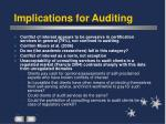 implications for auditing