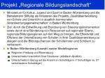 projekt regionale bildungslandschaft