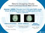 neuro imaging study presented at 65th annual american pm r conference