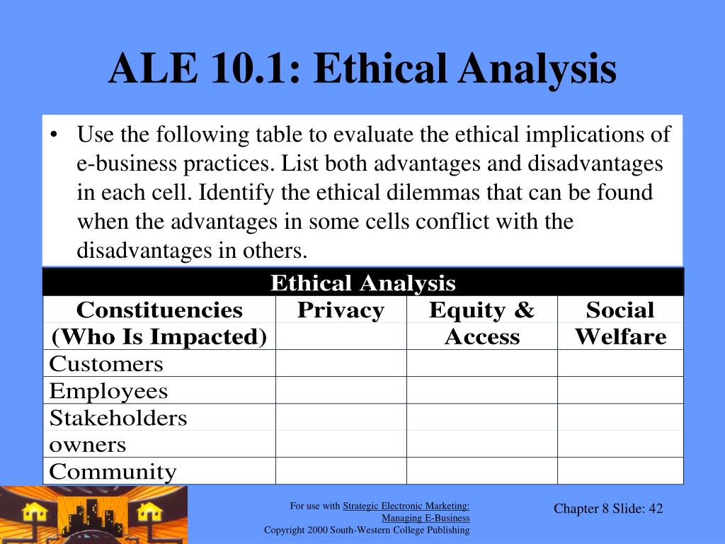 ALE 10.1: Ethical Analysis