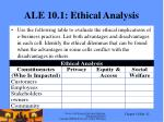 ale 10 1 ethical analysis
