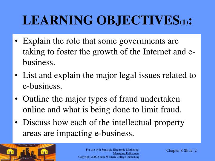 Learning objectives 1