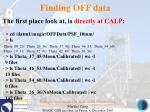 finding off data207