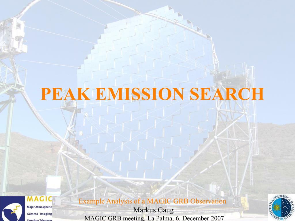 PEAK EMISSION SEARCH