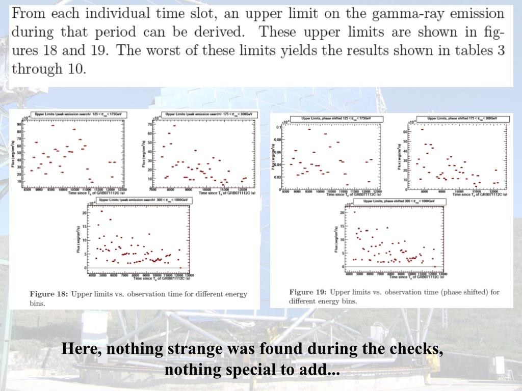 Here, nothing strange was found during the checks,  nothing special to add...