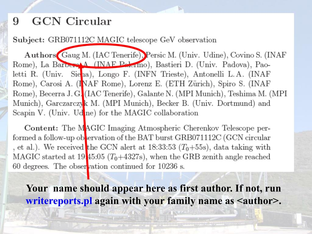 Your  name should appear here as first author. If not, run