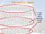 the analysis report162