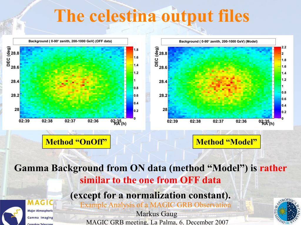 The celestina output files