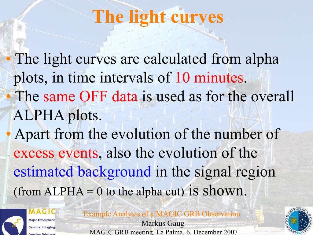 The light curves
