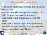 the melibea root files