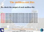 the melibea root files52