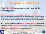 the output of melibea