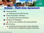 actions multi area agreement