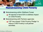 mainstreaming child poverty