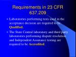 requirements in 23 cfr 637 209