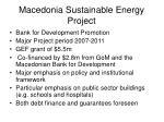 macedonia sustainable energy project