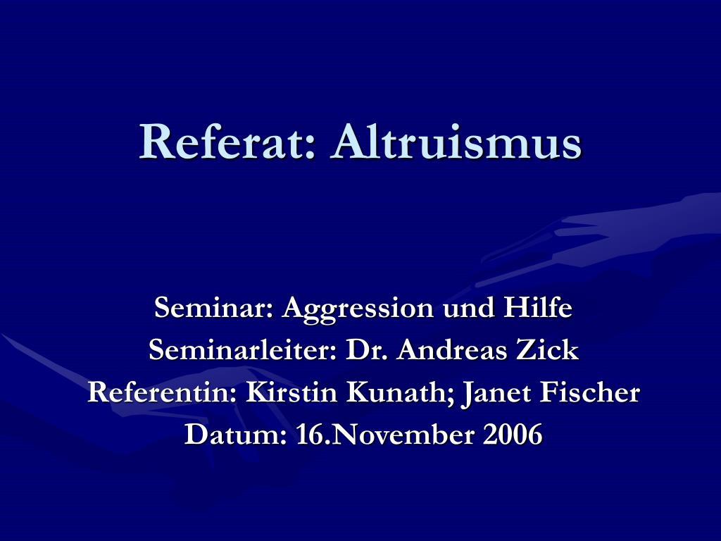 referat altruismus l.
