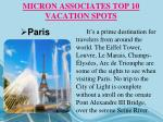 micron associates top 10 vacation spots