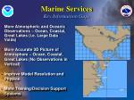 marine services key information gaps