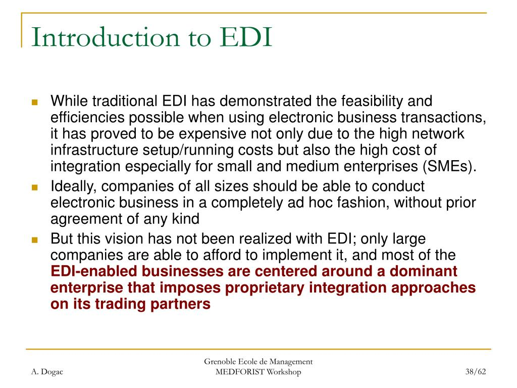 Introduction to EDI