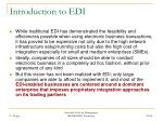 introduction to edi38