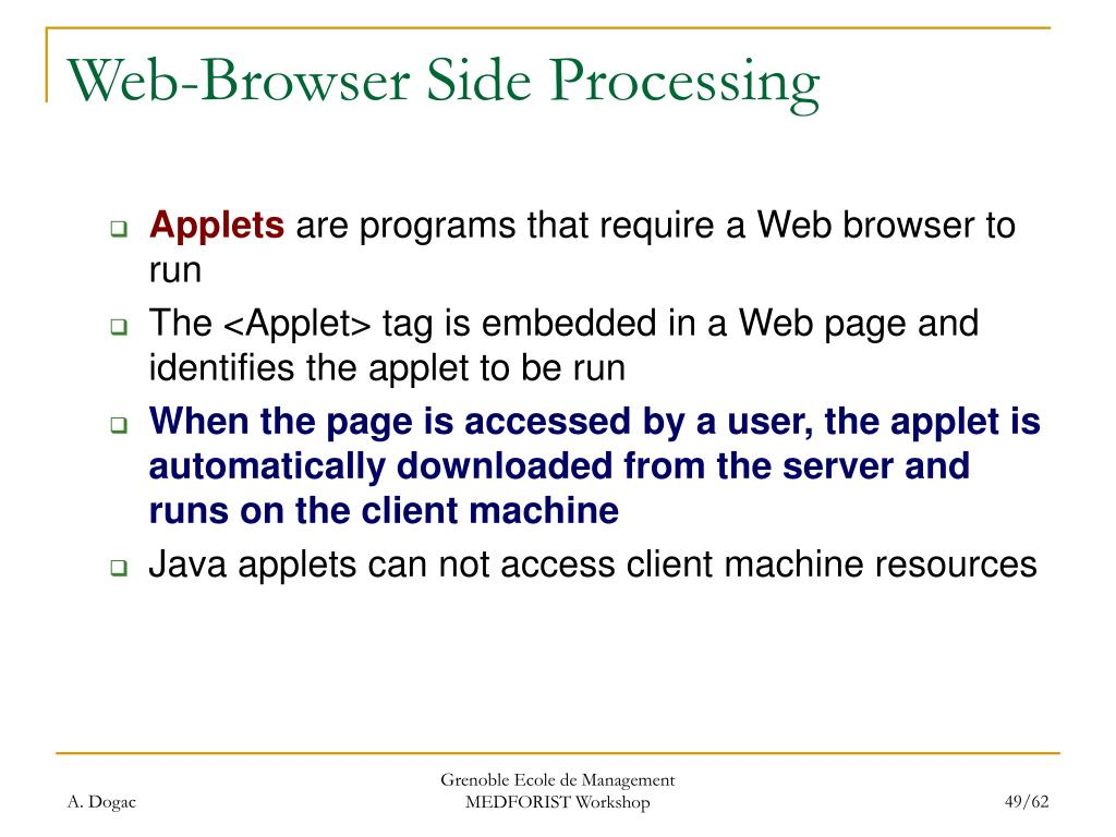Web-Browser Side Processing