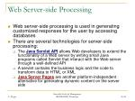 web server side processing