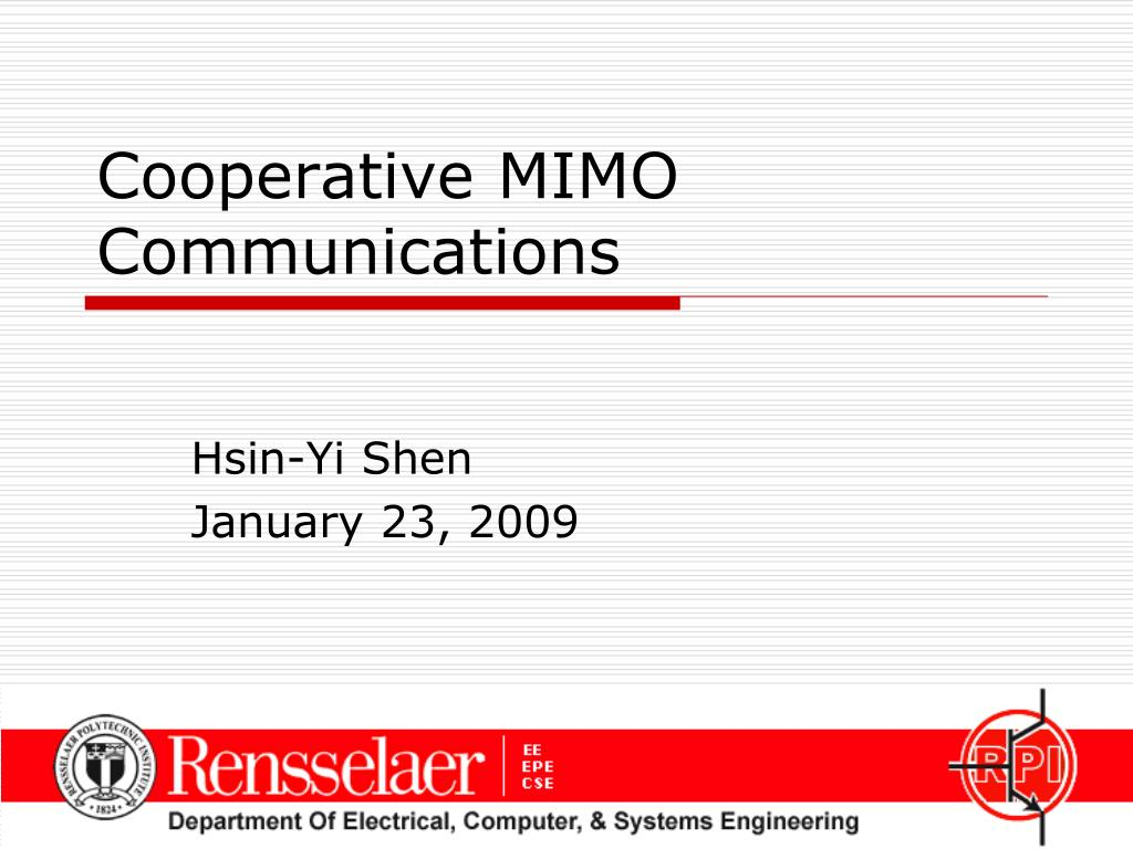 cooperative mimo communications l.