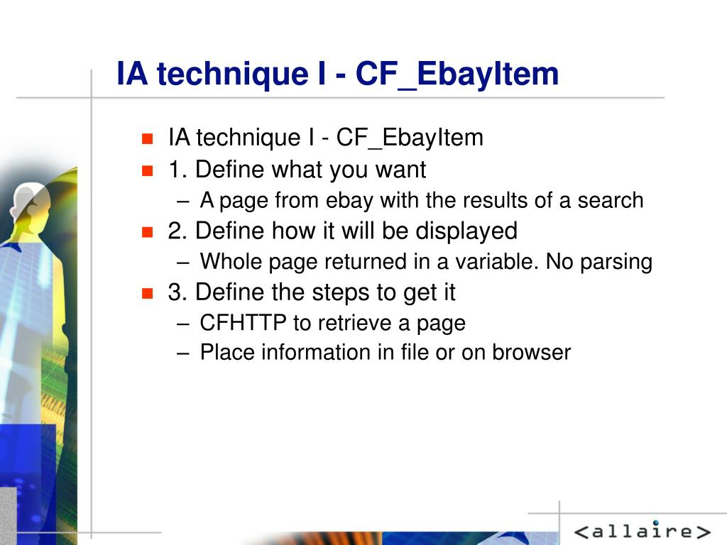 IA technique I - CF_EbayItem
