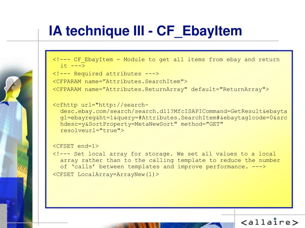 IA technique III - CF_EbayItem