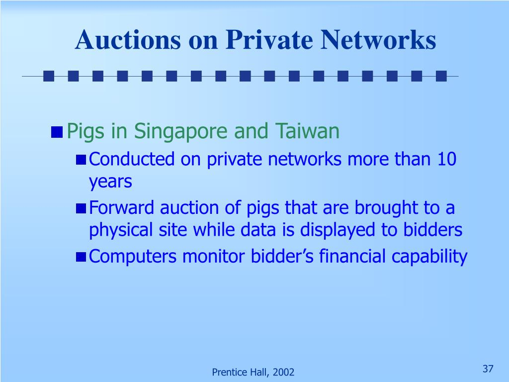 Auctions on Private Networks