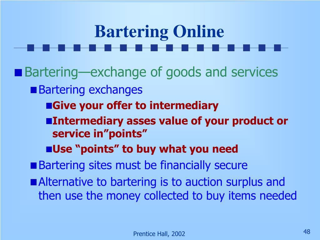 Bartering Online