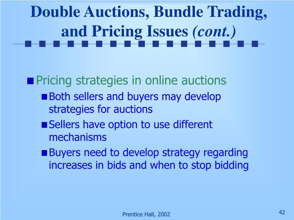 Double Auctions, Bundle Trading,