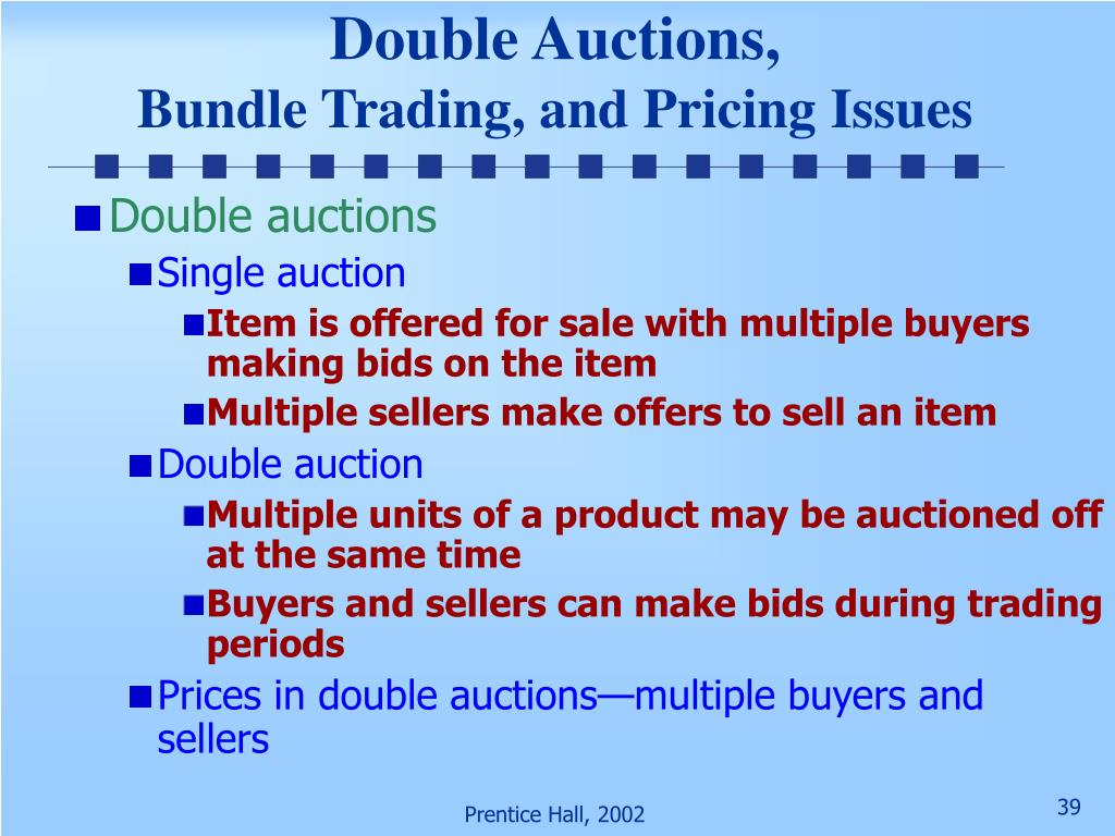 Double Auctions,