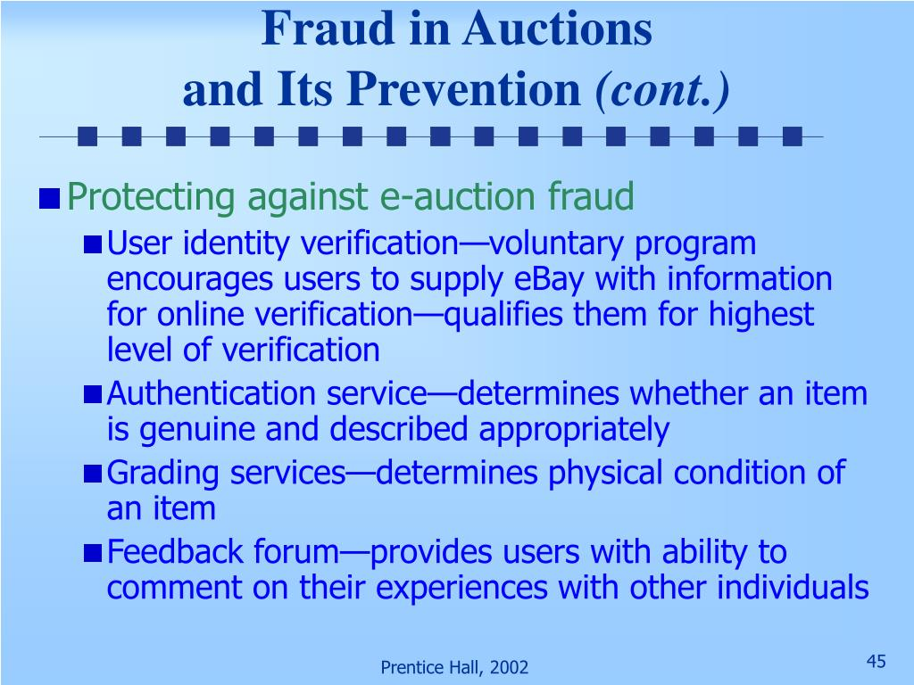 Fraud in Auctions