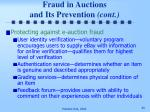 fraud in auctions and its prevention cont45