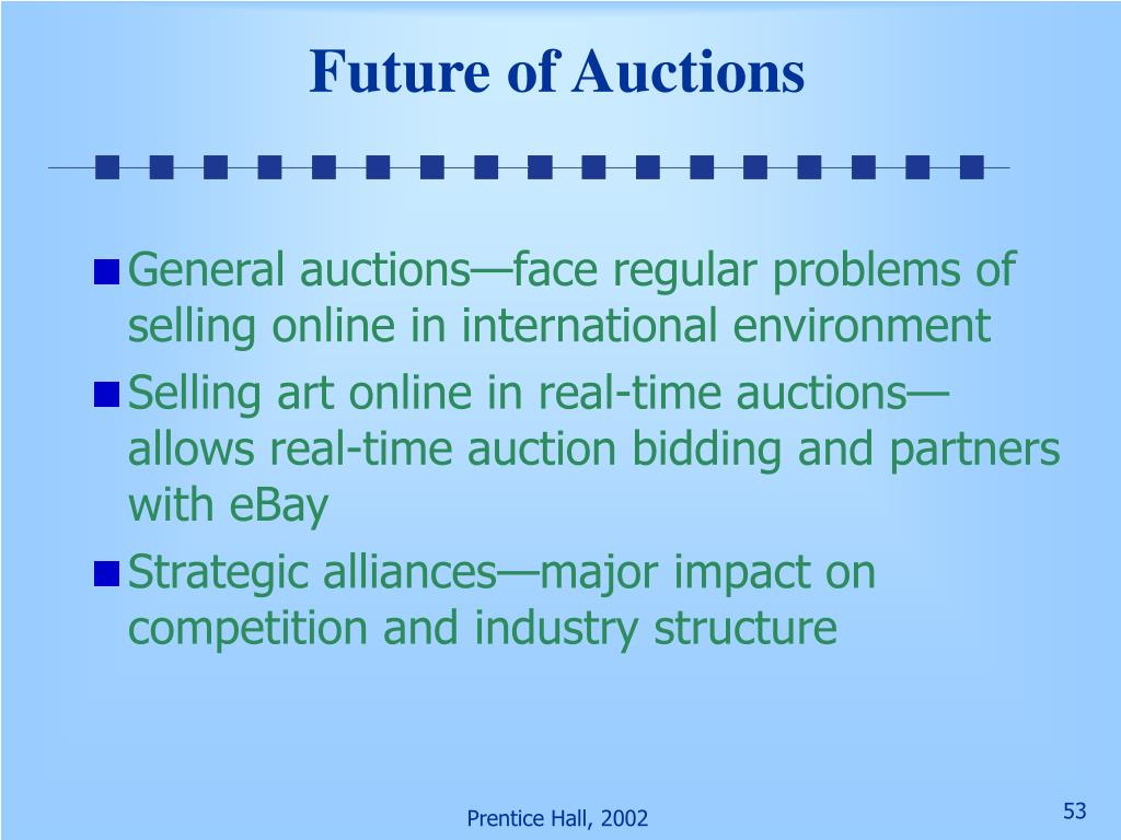 Future of Auctions