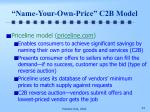 name your own price c2b model