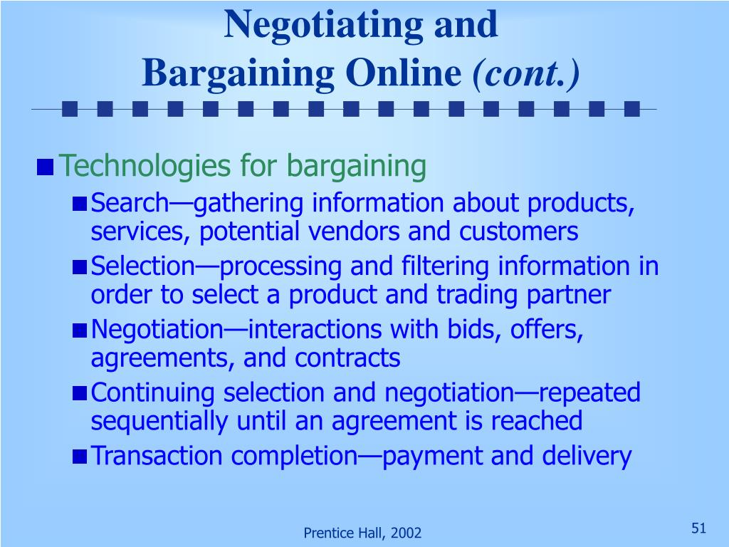 Negotiating and