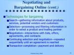 negotiating and bargaining online cont
