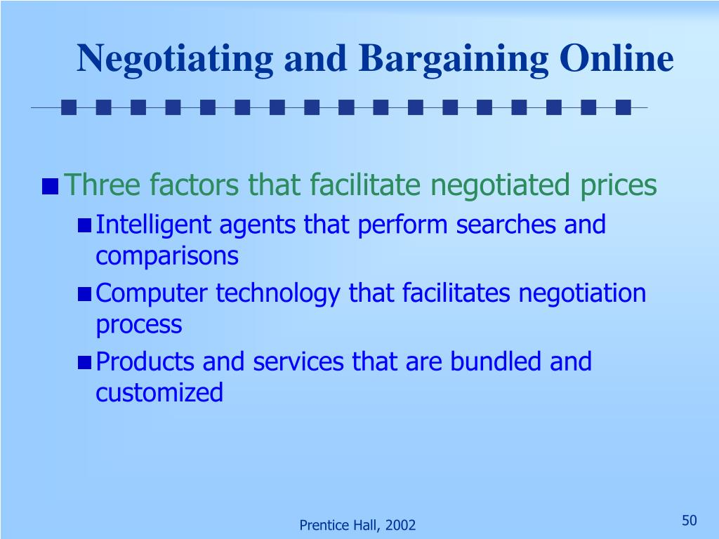 Negotiating and Bargaining Online