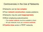 controversies in the use of networks