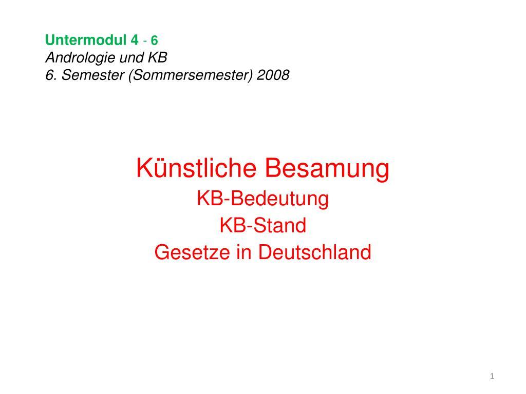 untermodul 4 6 andrologie und kb 6 semester sommersemester 2008 l.