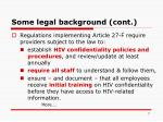 some legal background cont