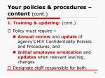 your policies procedures content cont30