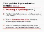 your policies procedures content cont31