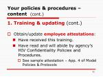 your policies procedures content cont32